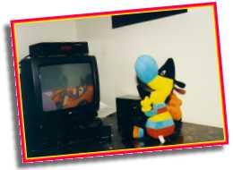 Twipsy vor dem Fernseher